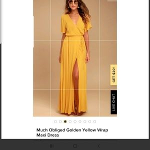 Lulu's much Obliged yellow maxi dress